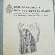 Documentos bancarios: ANTIGUA LIBRETA DE AHORRO CAJA DE AHORROS DE PIEDAD DE MADRID 1946. Lote 195459632