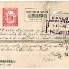 Documentos bancarios: LETRA DE CAMBIO CAFÉS Y CHOCOLATES EL CAFETO CRÓTIDO DE SIMÓN. MADRID 1932. Lote 195775443