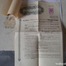 Documentos bancarios: POLIZA PRESTAMO Y CREDITO 500.000 PESETAS AÑO 1978. Lote 196270580