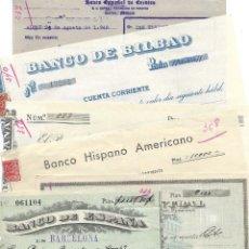Documentos bancarios: ALCOY (ALICANTE) LOTE 26 DOCUMENTOS BANCARIOS DE 5 BANCOS AÑOS 1939, 1942-43-44 BILBAO, CENTRAL,.... Lote 196928616