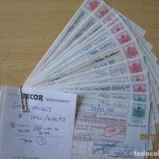 Documentos bancarios: LETRAS DE LOS AÑOS 90 CLASE 9 Y 10 TOTAL 12 LETRAS. Lote 197464153