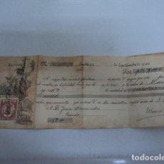 Documentos bancarios: DOCUMENTO BANCARIO HERRERO PAGARE AÑO 1925 COMPLETO FIRMADO Y SELLO OVIEDO ASTURIAS DOS MIL PESETAS. Lote 198650907