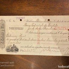 Documentos bancarios: CHEQUE. N. GELATS & CIA. 1935. HABANA, CUBA. VER. Lote 198674771