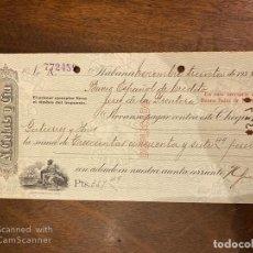 Documentos bancarios: CHEQUE. N. GELATS & CIA. 1935. HABANA, CUBA. VER. Lote 198674806