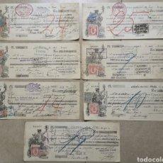 Documentos bancarios: LOTE 7 LETRAS DE CAMBIO BANCO DE SANTANDER - ZARAGOZA BILBAO SAN SEBASTIÁN BARCELONA -AÑOS 1922 1923. Lote 199729692