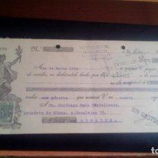 Documentos bancarios: LETRA CAMBIO - 4 DE ENERO DE 1934 - VARIOS SELLOS Y TAMPONES DISTINTOS. Lote 199733742