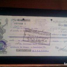 Documentos bancarios: LETRA CAMBIO - 1 DE SEPTIEMBRE DE 1933 - VARIOS SELLOS Y TAMPONES DISTINTOS. Lote 199733788