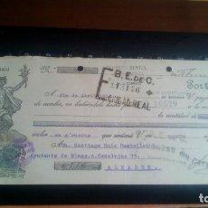 Documentos bancarios: LETRA CAMBIO - 5 DE FEBRERO DE 1934 - VARIOS SELLOS Y TAMPONES DISTINTOS. Lote 199733825