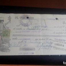 Documentos bancarios: LETRA CAMBIO - 8 DE JULIO DE 1933 - VARIOS SELLOS Y TAMPONES DISTINTOS. Lote 199733861