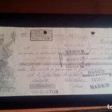 Documentos bancarios: LETRA CAMBIO - 29 DE MAYO DE 1923 - VARIOS SELLOS Y TAMPONES DISTINTOS. Lote 199733965