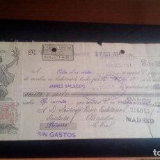 Documentos bancarios: LETRA CAMBIO - 27 DE OCTUBRE DE 1924 - VARIOS SELLOS Y TAMPONES DISTINTOS. Lote 199734251