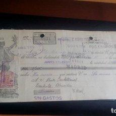 Documentos bancarios: LETRA CAMBIO - 24 DE DICIEMBRE DE 1923 - VARIOS SELLOS Y TAMPONES DISTINTOS. Lote 199734361