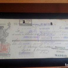 Documentos bancarios: LETRA CAMBIO - 27 DE MARZO DE 1924 - VARIOS SELLOS Y TAMPONES DISTINTOS. Lote 199734410
