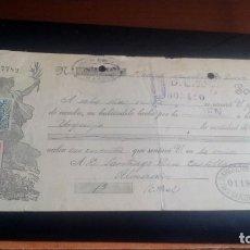 Documentos bancarios: LETRA CAMBIO - 28 DE ENERO DE 1929 - VARIOS SELLOS Y TAMPONES DISTINTOS. Lote 199734446