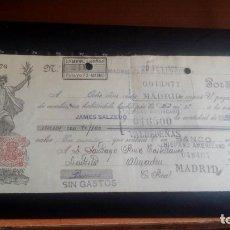 Documentos bancarios: LETRA CAMBIO - 26 DE FEBRERO DE 1923 - VARIOS SELLOS Y TAMPONES DISTINTOS. Lote 199734522