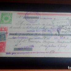Documentos bancarios: LETRA CAMBIO - 20 JUNIO 1949 - VARIOS SELLOS Y TAMPONES DISTINTOS. Lote 199741570