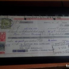 Documentos bancarios: LETRA CAMBIO - 31 ENERO 1955 - VARIOS SELLOS Y TAMPONES DISTINTOS. Lote 199741618