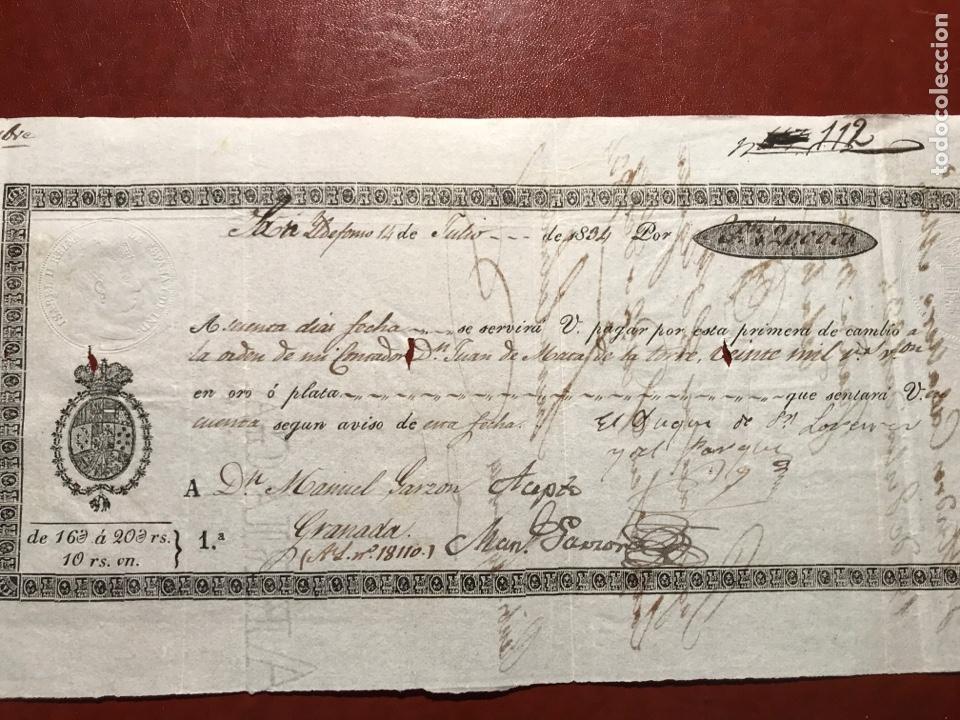 LETRAS. SAN ILDEFONSO. GRANADA. 1834. ISABEL II (Coleccionismo - Documentos - Documentos Bancarios)