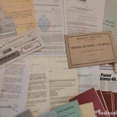 Documentos bancarios: EXTRAORDINARIO LOTE DE DOCUMENTACIÓN DEL BANCO PASTOR (LA CORUÑA). COMPRENDE DE 1938 A LOS AÑOS 80.. Lote 200066113