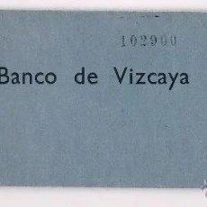 Documentos bancarios: TALONARIO CHEQUES BANCO DE VIZCAYA BARCELONA ANTIGUO COLECCIONISTA. Lote 49638708