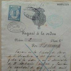 Documentos bancarios: PAGARE DEL BANCO DE ESPAÑA, AÑO 1.902, COMO NUEVO.. Lote 200293441