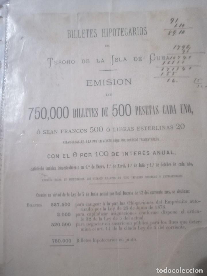 ANTIGUO BILLETE HIPOTECARIO (Coleccionismo - Documentos - Documentos Bancarios)