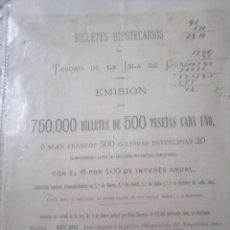 Documentos bancarios: ANTIGUO BILLETE HIPOTECARIO. Lote 200575237
