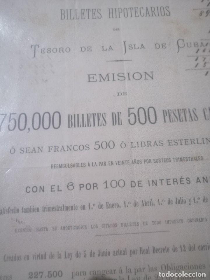 Documentos bancarios: Antiguo billete hipotecario - Foto 2 - 200575237