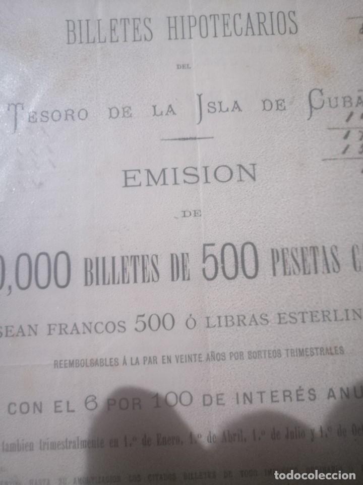 Documentos bancarios: Antiguo billete hipotecario - Foto 3 - 200575237