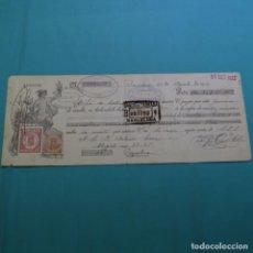 Documentos bancarios: RECIBO PAGARÉ BANCO DE TARRASA.TERRAZ AMORIM.PUJOL SAURI.ANTONIO SERRA.1920.CON SELLOS.. Lote 200869018