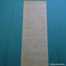 Documentos bancarios: CUENTA RESACA DE LETRA DE CAMBIO.HIJOS DE MAGIM VALLS.1895.. Lote 200870206