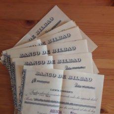 Documentos bancarios: BANCO DE BILBAO 10 JUSTIFICANTES LETRAS ABONO AGENCIA BANCARIA BAILEN. Lote 202707692