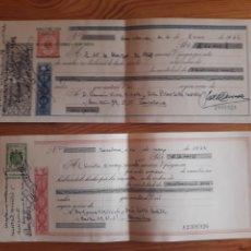 Documentos bancarios: 2 LETRAS DE CAMBIO AÑOS 60. Lote 202708500