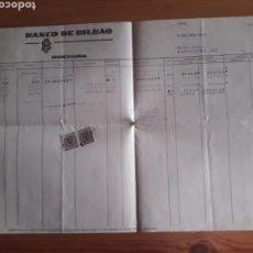 Documentos bancarios: HOJA DEBE HABER SALDOS BANVO BILBAO BARCELONA. Lote 202710243