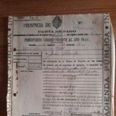 Documentos bancarios: CARTA DE PAGO BARCELONA BANCO DE ESPAÑA 1926. Lote 202712688
