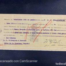 Documentos bancarios: LETRA DE CAMBIO. BOGOTÁ, 1928. HENRI DESTÉ. VER. Lote 205648082