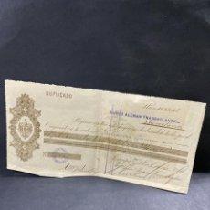 Documentos bancarios: PAGARÉ. BANCO ALEMAN TRANSATLÁNTICO. AREQUIPA. PERU, 1914. VER. Lote 205770133