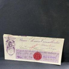 Documentos bancários: PAGARÉ. BANCO ALEMAN TRANSATLÁNTICO. BOGOTÁ. COLOMBIA, 1913. VER FOTOS. Lote 205773982