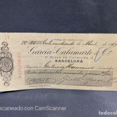 Documentos bancarios: PAGARÉ. GARCIA-CALAMARTE & CÍA. CALI. COLOMBIA, 1917. VER. Lote 205886812