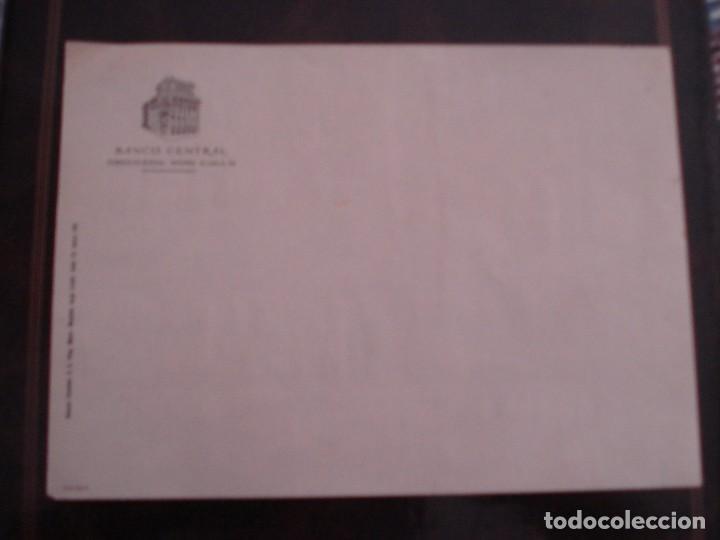 ANTIGUO IMPRESO DEL BANCO CENTRAL EN BLANCO (Coleccionismo - Documentos - Documentos Bancarios)