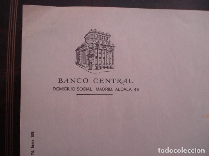 Documentos bancarios: ANTIGUO IMPRESO DEL BANCO CENTRAL EN BLANCO - Foto 2 - 207873228