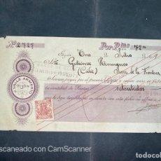 Documentos bancarios: PAGARÉ. J. VALLE ARMESTO. GIJON, 1918. VER. Lote 208234406