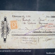 Documentos bancarios: PAGARÉ. J. VALLE ARMESTO. GIJON, 1918. VER. Lote 208234461