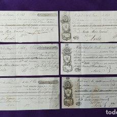 Documentos bancarios: 6 LETRAS DE CAMBIO ORIGINALES DE MADRID Y AVILA DE LOS AÑOS 1827-1828-1837-1838 Y 1840.. Lote 209958125