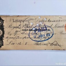 Documentos bancários: CHEQUE PAGARE 1892. Lote 210246842