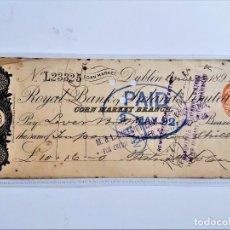 Documentos bancários: CHEQUE PAGARE 1892. Lote 210247015