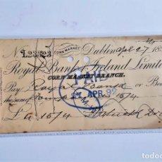 Documentos bancários: CHEQUE PAGARE 1892. Lote 210247123