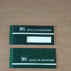 Documentos bancarios: BANCO DE SANTANDER 2 TALONARIOS DE CHEQUES DE LOS AÑOS 80. Lote 213799948