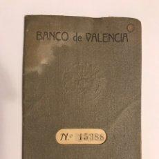 Documentos bancarios: CAJA DE AHORROS. ESTABLECIDA EN EL BANCO DE VALENCIA. BAJO LA GARANTÍA DEL MISMO BANCO (A.1933). Lote 215290815