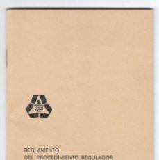 Documentos bancarios: FOLLETO LIBRITO. REGLAMENTO DESIGNACIÓN MIEMBROS GOBIERNO. CAJA AHORROS DE VALENCIA 1978 AA. Lote 217714686